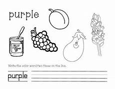 color purple worksheets for kindergarten 12930 purple color and write worksheet by raymond tpt