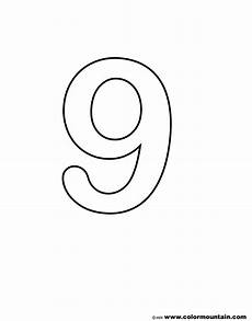 Number Nine Coloring Number Nine Color Page Create A Printout Or Activity