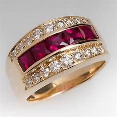 wide band ruby diamond ring 14k great mens ring mens ring rings for men ruby