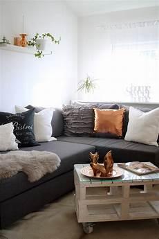 Wohnzimmer Deko Ikea Kupfer Weiss Grau Fuchs