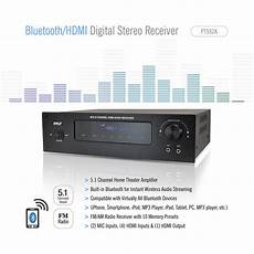 digital radio receiver test pyle pt592a bluetooth 5 1 channel hdmi digital stereo