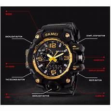Jam Tangan Skmei Pria Ad1155 skmei jam tangan analog digital pria ad1155 black