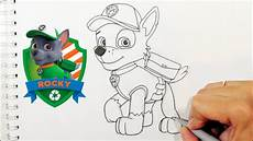 how to draw rocky from paw patrol
