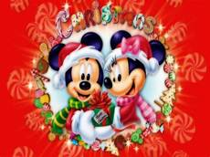 mickey mouse christmas backgrounds wallpapersafari