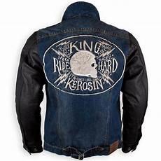 king kerosin denim leather kevlar biker jacket