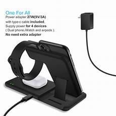 Bakeey Charge Dock Without Cable by Bakeey 15w 4 In 1 Qi Wireless Charger Fast Charging Dock
