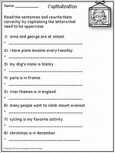 Capitalization Commas And End Punctuation Ccss 2nd