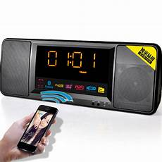 Wireless Bluetooth Speaker Display Dual by 2016 New Lcd Digital Display Wireless Bluetooth Speaker Fm