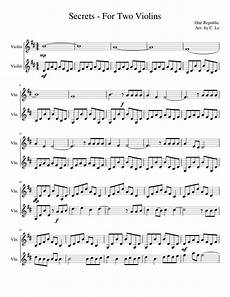 secrets two violins sheet music for violin download free in pdf or midi