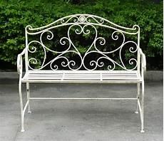 panchina ferro panchina da giardino shabby chic in ferro battuto bianco 2