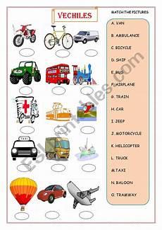 vehicles free worksheets 15173 vehicle esl worksheet by critos