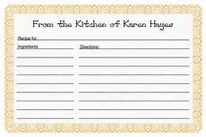 5x7 recipe card template free recipe card template menu planning recipe template for