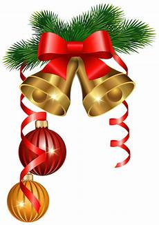 golden bells and ornaments png clipart image