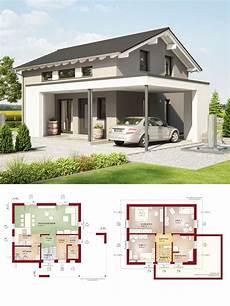 Einfamilienhaus Modern Mit Design Carport Und Satteldach