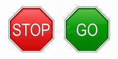 Stop And Go Signs Stock Vector Illustration Of Caution