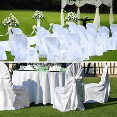 10 satin self tie chair covers wedding diy party banquet