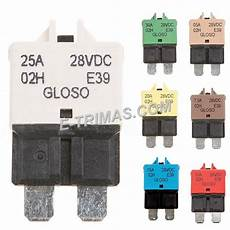 manual reset blade fuse circuit breaker for marine rapid