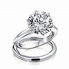 round 3 5ct solitaire cz engagement wedding ring set