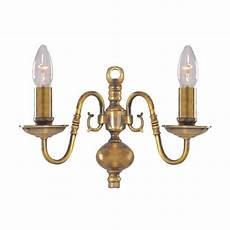 buy flemish traditional antique brass wall light