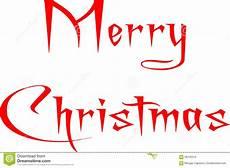frohe weihnachten geschrieben auf englisch stock abbildung