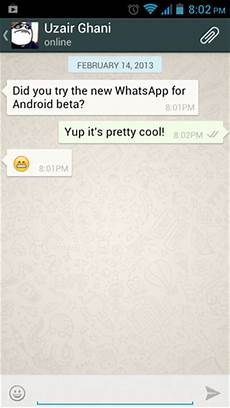 new whatsapp messenger beta released for android features holo theme and expandable