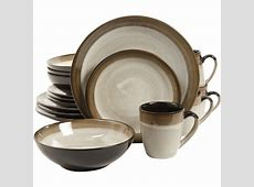Gibson Couture Bands 16 Piece Dinnerware Set & Reviews