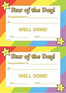 s day printable certificate 20529 free printable use these of the day certificates to reward behaviour these cert