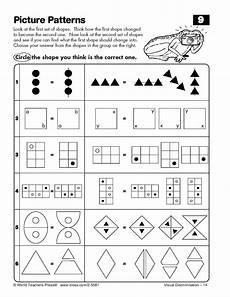 visual algebra worksheets 8622 visual discrimination exploring and solving picture patterns olsat nnat math
