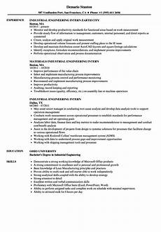 engineer intern resume may 2020