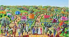 jerusalem naive art acrylic painting by raphael perez israeli painter absolutearts com