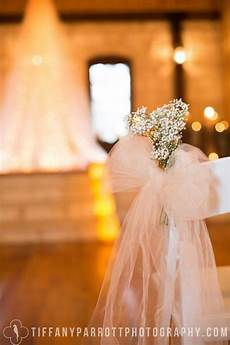 6 handmade tulle bows for wedding aisle decorations bridal