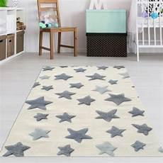 Sternen Teppich Kinderzimmer - sternen teppich f 252 r kinderzimmer creme grau teppich4kids