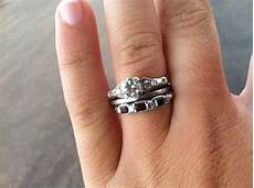 engagement wedding and eternity rings
