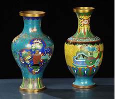 vasi cinesi cloisonne coppia di vasi cloisonne in rame antiquariato argenti e