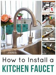 how to install a faucet in the kitchen how to install a kitchen faucet happiness is