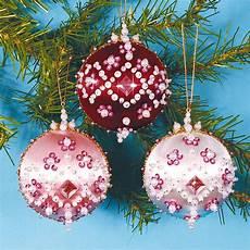 3 christbaumkugeln glanzfaden im set 3 versch farben