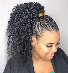 60 easy and showy protective hairstyles for natural hair in 2019 ponytail styles weave