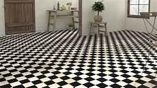 sol pvc damier noir et blanc sol vinyle imitation carrelage damier vestibule