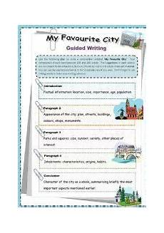 guided writing worksheets for grade 2 22815 worksheet my favourite city guided writing esl for elementary