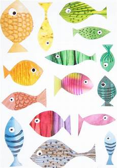 Ausmalbilder Bunte Fische Fische Basteln Mit Kindern Meine Svenja