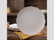 The Pioneer Woman Farmhouse Lace Dinner Plate Set, 4 Pack