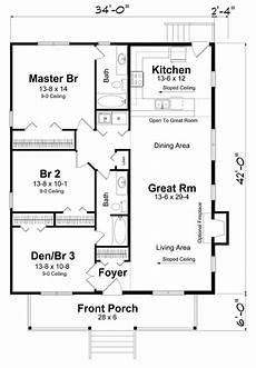 3 bedroom rectangular house plans rectangle house plan with 3 bedrooms no hallway to