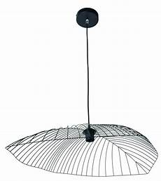 Suspension Design Filaire Leaf Noir Mat En M 233 Tal Keria
