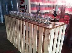 bar en palette bois 16 photos conseils et astuces