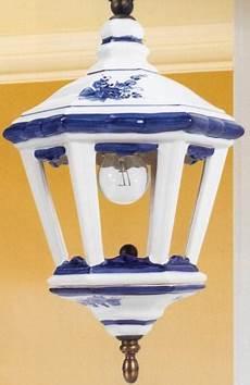 applique rustiche r4501 applique con lanterna in ceramica decorata a mano