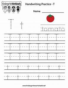 worksheets letter t 24505 kindergarten letter t writing practice worksheet printable with images writing practice