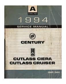 car repair manuals online pdf 1994 buick century parking system 1994 buick century oldsmobile cutlass ciera and cruiser factory service manual