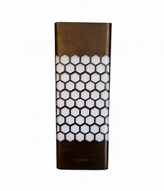 philips oriel 9w led honey comb wall light brown of