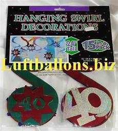 dekoration 40 geburtstag geburtstag dekoration wirbler dekoration 40 geburtstag