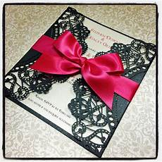 red and black wedding invites black lace paper with red